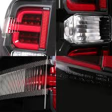 2014 2015 2016 2017 Chevy Silverado Black LED Tail Lights Lamps ...