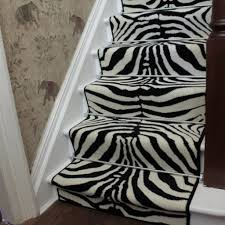 Attractive Zebra Full Black Animal Print Stair Carpet Runner Soft And  Smooth For Comfortable Walk On Maximum Durability Polypropylene Material  Anti Static ...