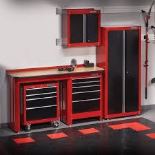 wall interior kitchen sears garage track units workbench professional shelving pin countertops storage system cabinets ideas tool check craftsman cabinet