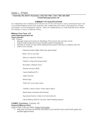 makeup artist resume sample job and resume template resume writing examples for makeup artists