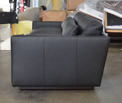 dexter leather sofa in jet black ink 108 inch side view