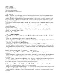 Cover Letter Support Technician Resume Operations Support