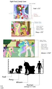 Pony Height Chart 1216757 8 Foot Candy Cane Alicorn Apple Bloom Candy