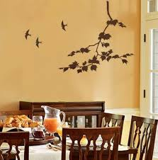 charming home interior decoration with stencil wall arts extraordinary dining room decoration with light yellow