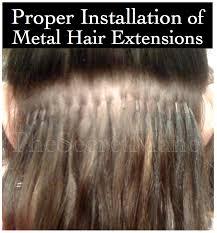 proper way to install hair extensions with micro rings when attached correctly these hair extensions