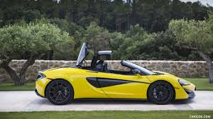 2018 mclaren 570s.  Mclaren 2018 McLaren 570S Spider Color Sicilian Yellow  Side Wallpaper Throughout Mclaren 570s