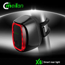 Best Back Light Bike 2019 Meilan X6 Brand Smart Bicycle Rear Lights 16 Led Usb Rechargeable Mtb Road Bike Safety Warning Light 6 Modes Waterproof From Kimgee 21 85