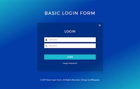 Basic Login Form A Flat Responsive Widget Template