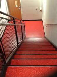st cloud state stairwell rubber flooring