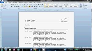 How To Make Resume On Word Resume Templates