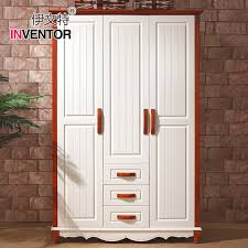 terranean solid wood sliding door wardrobe three large wooden wardrobe closet children assembled 3 drawer lockers