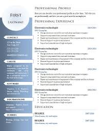Curriculum Vitae Resume Templates 1004 To 1010 Get A Free Cv
