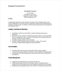 Functional Resume Templates Magnificent Functional Resume Sample Pdf Examples Template Word Format Samples