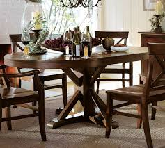 incredible pottery barn kitchen tables with round table 2017 pictures vintage benchwright extending pedestal rustic mahogany finish metal support