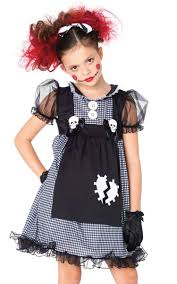 evil rag doll s black and grey costume front