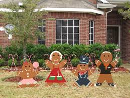 picture of gingerbread man yard decoration updated