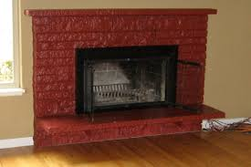 painted fireplaces red