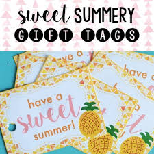 Summer Gift Tags Have A Sweet Summer Pineapple Gift Tags Freebie