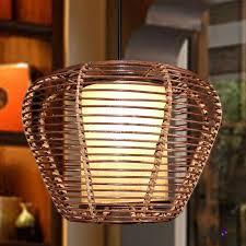 bamboo urn pendant lamp chinese 1 bulb