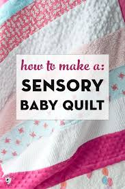 soft n snuggly sensory baby quilt