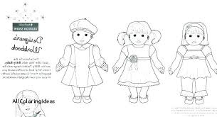 American Girl Coloring Pages To Print Girl Coloring Pages Printable