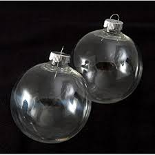 Creative Hobbies Round Clear Plastic Ball Ornaments, 83mm, Pack of 12