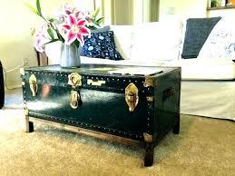 trunk coffee table black table black steamer trunk coffee table ottoman ideas interior design storage black
