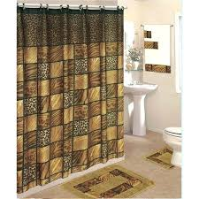 shower curtains and rugs piece bath rug set curtain towels zebra leopard coffee burdy world s