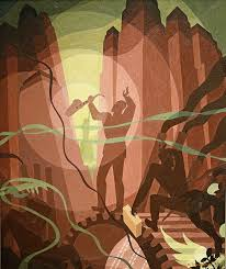Song of The Towers Painting By Aaron Douglas - Reproduction Gallery