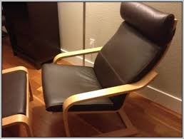 ikea poang chair leatherikea brown leather poang chairs x2 and footstool x1 in