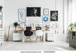 home office double desk. Creative Home Office With Double Desk And Two Chairs