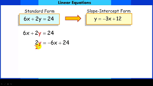 converting linear equations from standard form to slope intercept equation examples maxresde