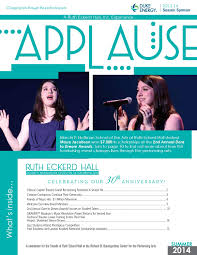 applause summer issue by ruth eckerd hall issuu