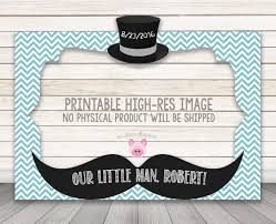 printable little man baby shower or birthday party photo booth frame 30 x 40