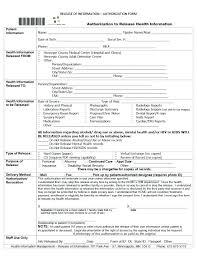 Hospital Admission Form Template Medical Release Form Sample ...