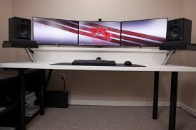 awesome computer desk setup with ikea linnmon adils computer desk setup with drawer for dual design of computer desk setup with desk setup tour 2016 you