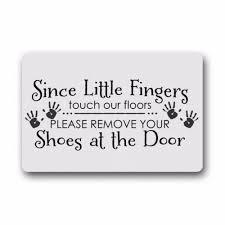 Doormat please remove shoes doormat images : Custom Machine washable Door Mat Please Remove Your Shoes Indoor ...