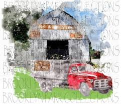 Dlh Design Llc Purina Feed Signs Barn Old Farm Truck Watercolor Instant Download Sublimation Art Print Png Digital Farmhouse Brooklyn Park Collections Llc