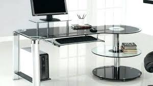 contemporary glass office desk. Modern Glass Office Desk Wonderful White Home Brilliant Desks Incredible Contemporary Furniture Elegant Curved Black E