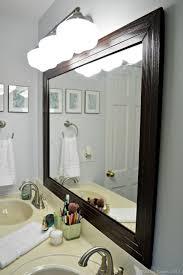 diy bathroom mirror frame. Stylish DIY Framed Bathroom Mirror Shelterness Within Mirrors Decor 6 Diy Frame I