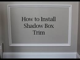 how to install square and angled shadow box trim on walls