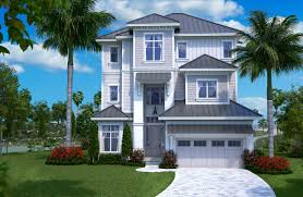 175 1137 color photo realistic rendering of beachfront home plan house plan 175 1137