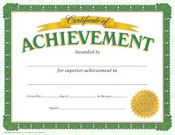 Achievement Certificate Saples Seal Achievement Certificate Template