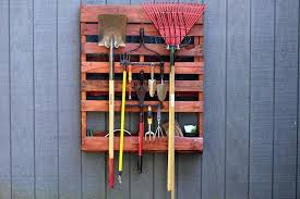 use a wooden pallet to your tools