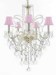 murano venetian style all crystal chandelier lighting with pink shades h30 x w2 229 56