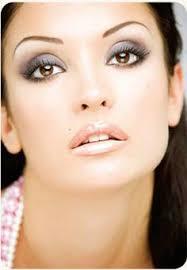 glam smokey eyes blue grey brown white eyeshadow lined