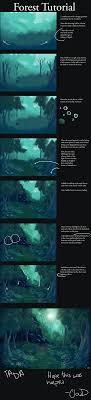 Forest Tutorial By Aniplay Deviantart Com On Deviantart Drawing