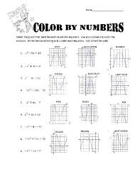 solving quadratic equations graphically worksheet