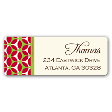 Free Printable Christmas Return Address Label Template Christmas ...