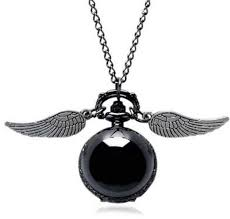 fashion jewelry harry potter snitch flying ball pendant necklace pocket watch souq uae